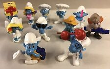 Smurf Figure Lot Of 11 Smurfette Figurine Toy Set Cake Topper