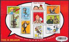 Belgium 2012 Tintin Souvenir Sheet BL201 - Belgium 'cartoon land' - MNH**