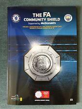 2018 WEMBLEY FA COMMUNITY SHIELD CHELSEA V MANCHESTER CITY FOOTBALL PROGRAMME