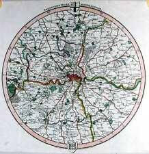 Antique map, Twenty five miles round London