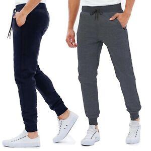 Pantaloni Tuta Uomo Basic Sportivi Tinta Unita Interno Felpato 8263