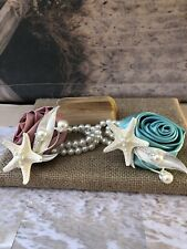 Xo Bouquet Seashell Corsage Starfish Pearll Beach Wedding Choose color