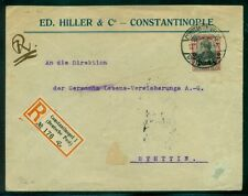 GERMANY OFFICES IN TURKEY 1914 40pf tied CONSTANTINOPLE to SZCZECIN POLAND