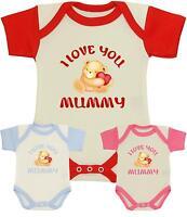 BABYPREM Baby Clothes I Love Mummy Bodysuit Vest Top One-Piece Boys Girls NB-12m