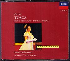 PUCCINI: TOSCA Leontyne Price Di Stefano Taddei KARAJAN 2CD Fernando Corena Cava