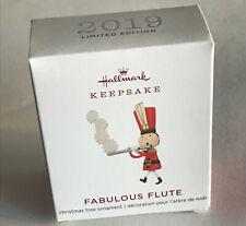 2019 Hallmark Fabulous Flute Miniature Christmas Ornament Limited Edition Nib