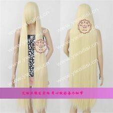Long:150CM Chobits Chii Wig Fashion Blonde Straight Cosplay Party Wig Hair 613