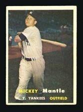 1957 TOPPS #95 MICKEY MANTLE PERFECT PRINTING NO CREASES BEST VALUE UNDER $1000