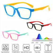 Moda Infantil Niños Anti-blue Luz Gafas Silicona Cristal UV400 Gafas