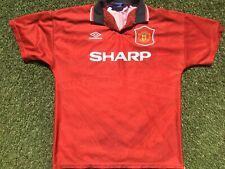 "Manchester United Football Shirt 1994-1996, Vintage/Retro ""Old Trafford"", Large"