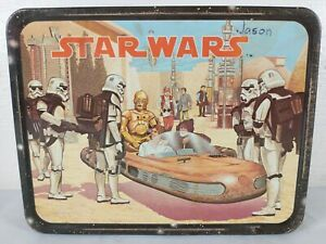 1977 Star Wars Metal Lunch Box Thermos King Seeley