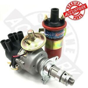 MG Midget 1275 Distributor with Side Cap & Accuspark Red 12Volt Sports Coil.