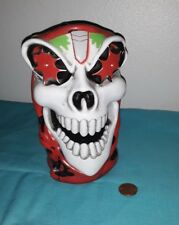 """Monster Jam GRAVE DIGGER Skull Skeleton Stein Mug 6"""" Tall"""