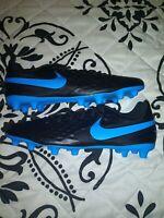 Nike Mens Tiempo Legend 8 Club FG Soccer Cleats Black Blue Size 10.5 AT6107-004