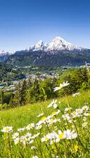 Alpen Fensterfolie Berge Blumen Bayern Sichtschutz Fensterbild Qualitätsfolie