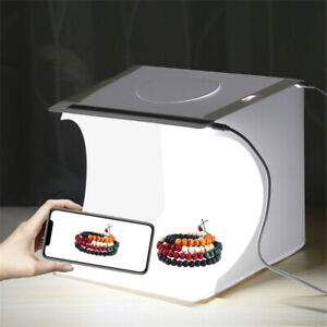 Mini Folding Photo Studio LED Light Box Photography Tent Backdrop Portable