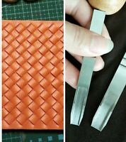 Leather Craft punch woven pattern  punching tool leathercraft DIY costum made