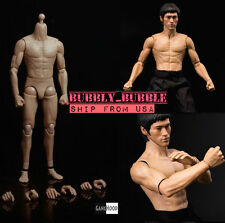 1/6 Muscular Male Body GangHood 2.0 For Bruce Lee as Hot Toys DX04 SHIP FROM USA