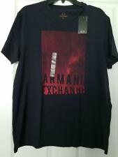 Armani Exchange Short-sleeve V Neck Top Logo Black Size 2xl