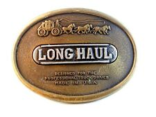 Vintage Long Haul Belt Buckle for Professional Truckers Made in U.S.A.
