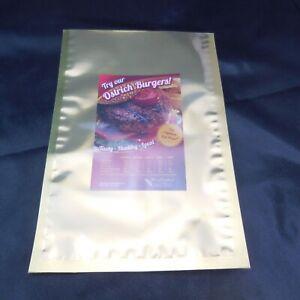 "Metallic Mylar Gold & Silver 8"" x 12"" Heat Seal Bags Food Storage  Pouch 100pcs"