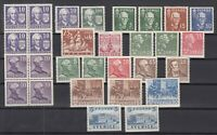 N3915/ SWEDEN – 1938 / 1941 MINT SEMI MODERN LOT – CV 180 $