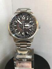 Citizen Men's Eco Drive Nighthawk Promaster S.Steel Bracelet Watch BJ7000-52E