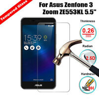 Tempered Glass Film Screen Protector Cover For Asus Zenfone 3 Zoom ZE553KL 5.5""