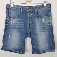 G STAR RAW Mens Size 32 A Crotch 3D Denim Shorts