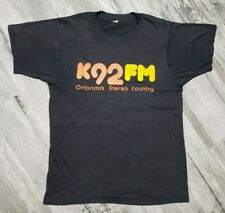 Vintage K92Fm T-Shirt Orlando's Stereo Country size Small Black 00000563
