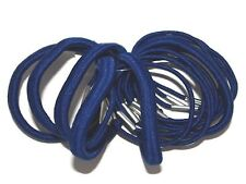 18 x Royal Blue Thick and Thin Hair Elastics Bobbles School Accessories