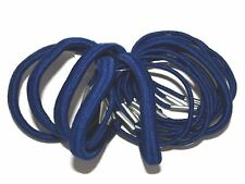 18 x Royal Blue Thick and Thin Hair Elastics Bobbles School Accessories