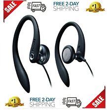 Earhook Headphones Philips Stereo Headset Sport Earphone Flexible ear hook Black