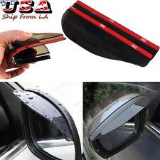 2x Smoke Rear View Side Mirror Flexible Sun Visor Shade Rain Guard Board Shield