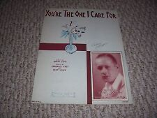 1930 You're The One I Care For Bert Lown Biltmore Hotel Sheet Music Leff Cover