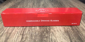 MAMACO HOME Unbreakable Glasses Drinking Set of 6 Black Shatterproof 11oz Cups