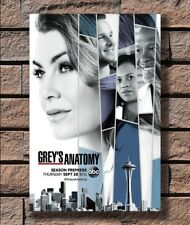 0102D Grey/'s Anatomy 2017 New Season 14 Ellen Pompeo-Print Art Silk Poster