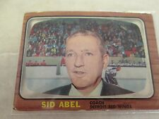 1966-67 Topps/ OPC Sid Abel Detroit Red Wings Coach