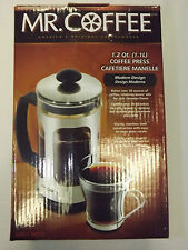 Mr. Coffee French Press / Coffee Maker 1.2Qt. - 1.1 L.  STAINLESS STEEL