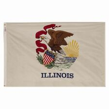 5x8 ft ILLINOIS Land of Lincoln OFFICIAL STATE FLAG Outdoor Nylon Made in USA