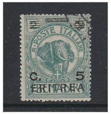Eritrea - 1922, 5c on 2b Green stamp - F/U - SG 58