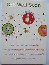 WONDERFUL COLOURFUL MEDICINE & TLC GET WELL SOON GET WELL GREETING CARD