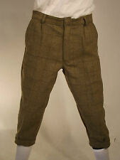 Tweed Plus Fours Green Country Sport Breech Trousers Shooting Hunting Riding 32 Inch