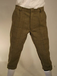 New Tweed Plus Fours Green Country Sport Breech Trousers Shooting Hunting Riding
