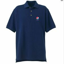 Pepsi Mens Navy Desert Sands Golf Shirt  (Size LG) 100% Cotton Polo  *NEW