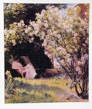 Peder Severin Kroyer•MARIE KROYER IN HER GARDEN Skagen Art 20x28 Poster Norway