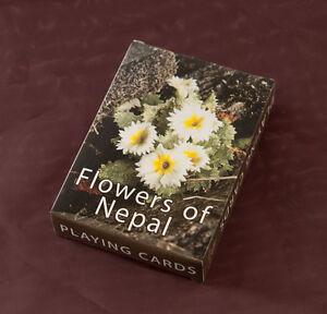 Jeu de 56 Cartes Theme Les Fleurs DE Himalaya au Népal Peterandclo 6802