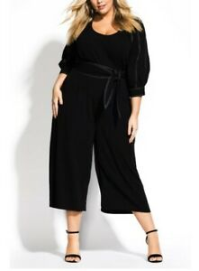 Woman's CITY CHIC Stitched Up Black Jumpsuit Size XL BRAND NEW!!!