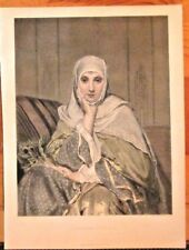 A Daughter Of The East, Woman, Head Scarf, Muslim Vintage 1874 Antique Art Print