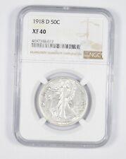 XF40 1918-D Walking Liberty Half Dollar - Graded NGC *8588